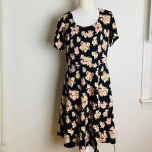 Forever 21 fit and flare floral dress plus size 3X